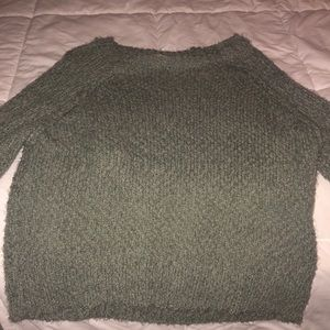 green sweater size large